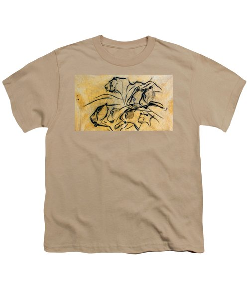 chauvet cave lions Clear Youth T-Shirt