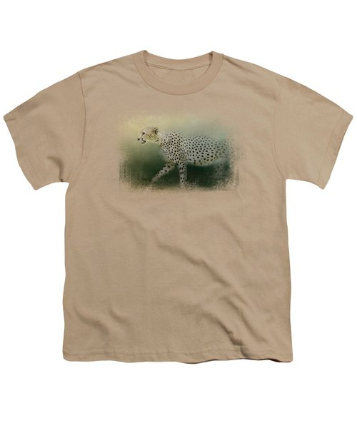 Cheetah On The Prowl Youth T-Shirt by Jai Johnson