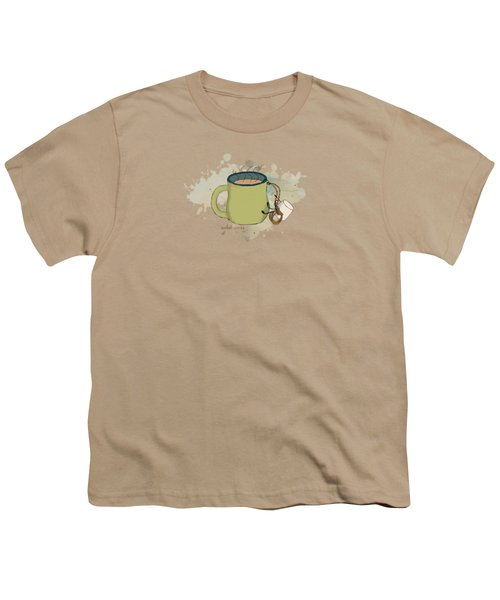 Climbing Mt Cocoa Illustrated Youth T-Shirt by Heather Applegate