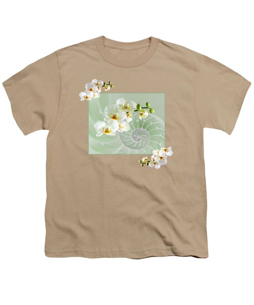 Cool Green Fusion Youth T-Shirt by Gill Billington
