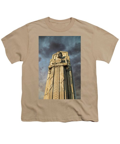 Covered Wagon Guardian On Hope Memorial Bridge Youth T-Shirt