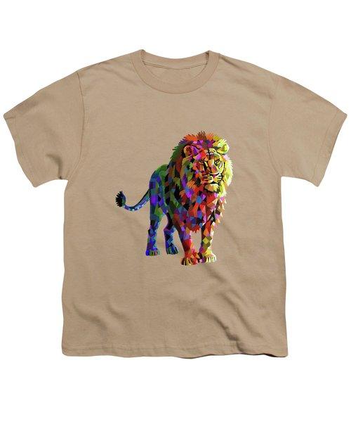 Geometrical Lion King Youth T-Shirt