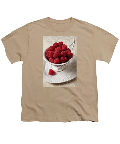 Cup Full Of Raspberries  Youth T-Shirt by Garry Gay