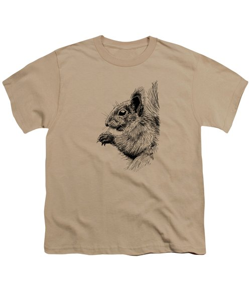 Cute Squirrel Youth T-Shirt by Masha Batkova