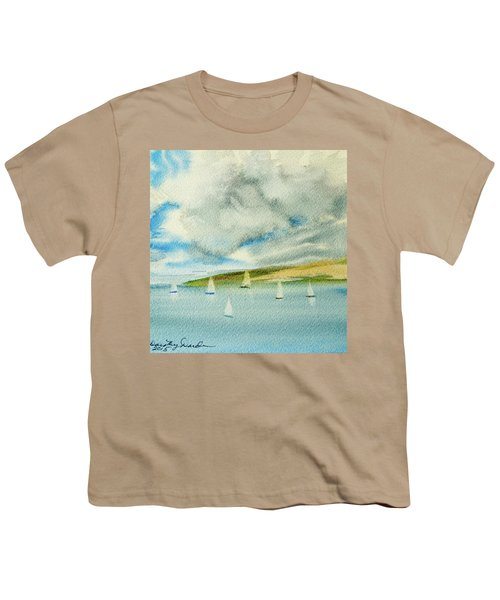 Dark Clouds Threaten Derwent River Sailing Fleet Youth T-Shirt
