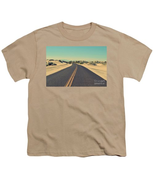 Youth T-Shirt featuring the photograph Desert Road by MGL Meiklejohn Graphics Licensing