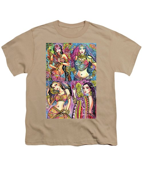 Youth T-Shirt featuring the painting Eastern Flower by Eva Campbell