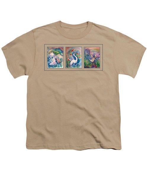 Egret Series Youth T-Shirt by Robin Monroe