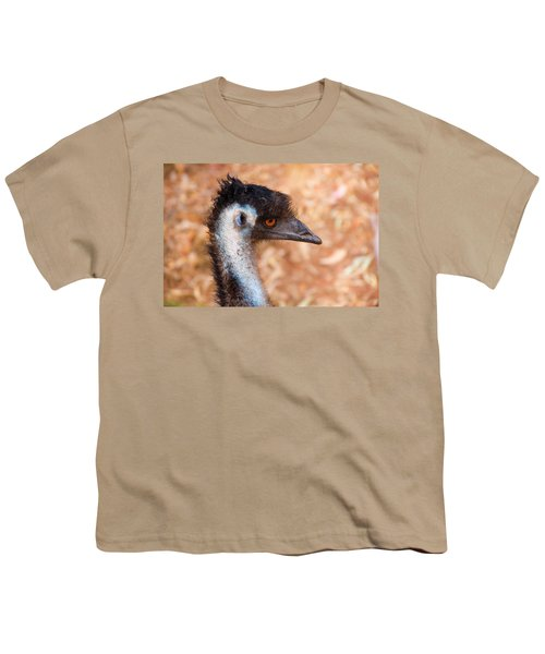 Emu Profile Youth T-Shirt by Mike  Dawson