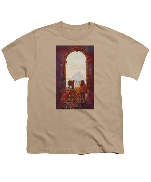 Evening At The Louvre Youth T-Shirt by Jenny Armitage