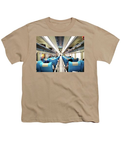 Perspective Inside A Train Youth T-Shirt