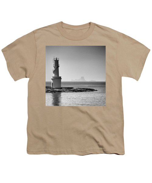 Far De La Savina Lighthouse, Formentera Youth T-Shirt by John Edwards
