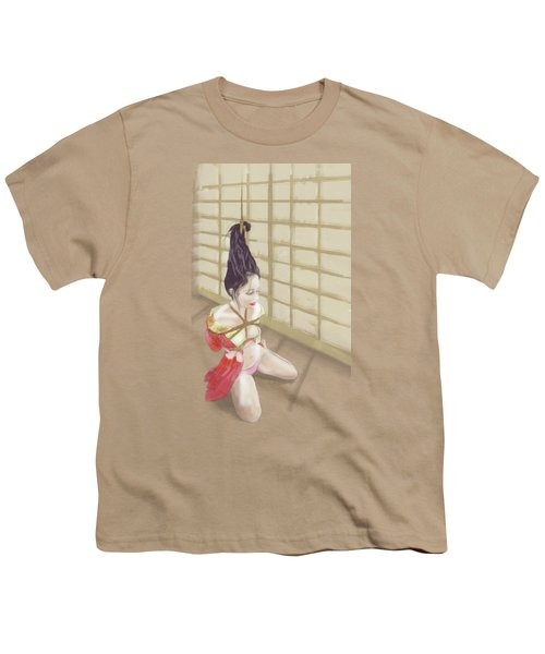 Youth T-Shirt featuring the mixed media Geisha by TortureLord Art