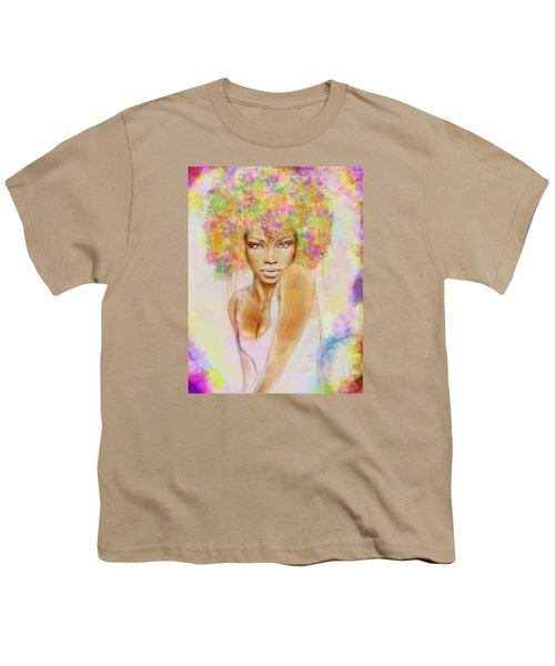 Girl With New Hair Style Youth T-Shirt by Lilia D
