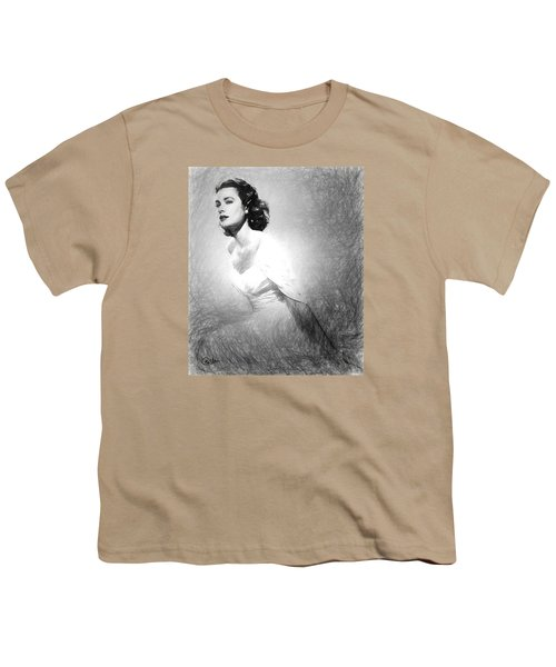 Grace Kelly Sketch Youth T-Shirt by Quim Abella