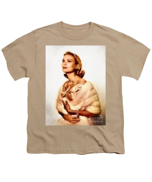 Grace Kelly, Vintage Actress By John Springfield Youth T-Shirt by John Springfield
