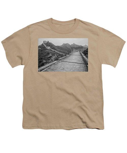 Youth T-Shirt featuring the photograph Great Wall 5, Jinshanling, 2016 by Hitendra SINKAR