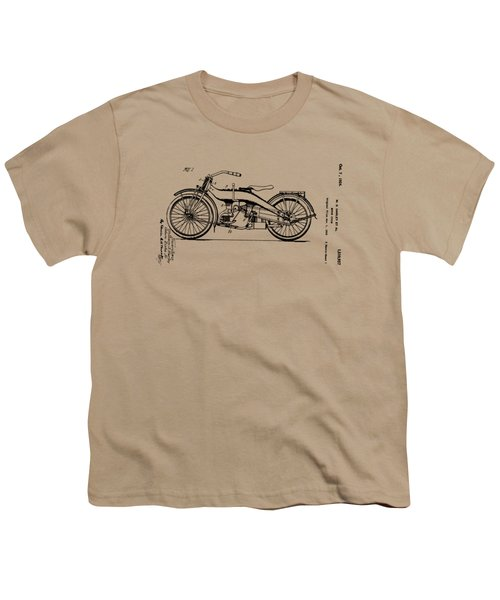 Harley Motorcycle Patent Youth T-Shirt