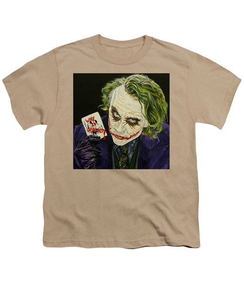 Heath Ledger The Joker Youth T-Shirt by David Peninger