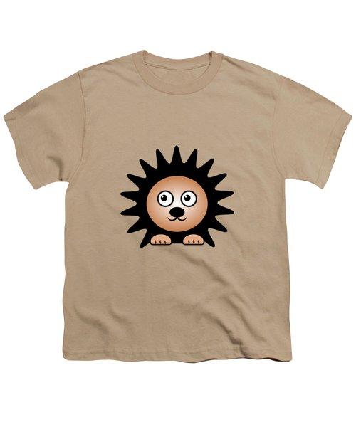 Hedgehog - Animals - Art For Kids Youth T-Shirt by Anastasiya Malakhova