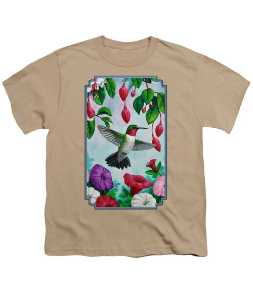 Hummingbird Greeting Card 2 Youth T-Shirt