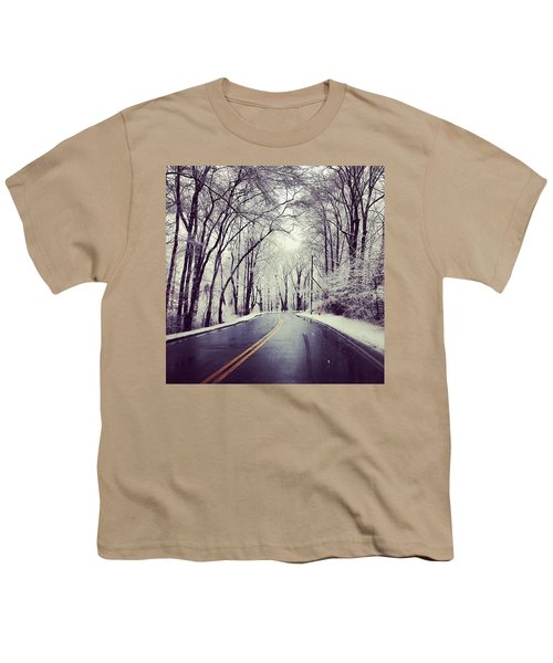 Backroads Of Winter Youth T-Shirt