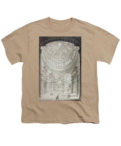Interior Of Saint Pauls Cathedral Youth T-Shirt