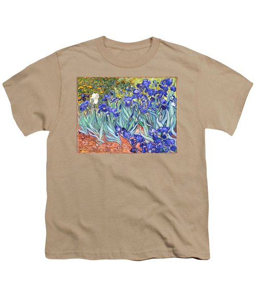 Youth T-Shirt featuring the painting Irises by Van Gogh