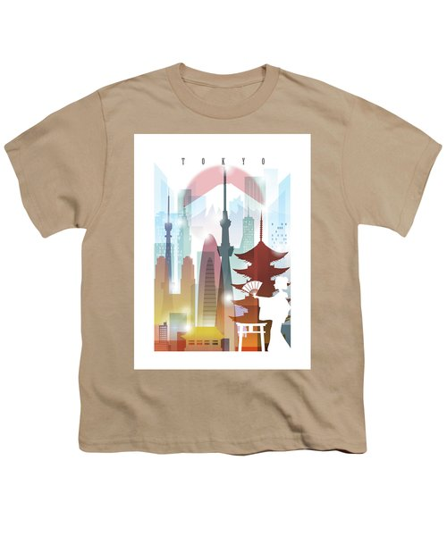 Japan Tokyo 2 Youth T-Shirt by Unique Drawing