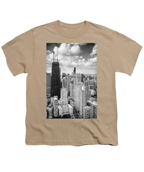 John Hancock Building In The Gold Coast Black And White Youth T-Shirt