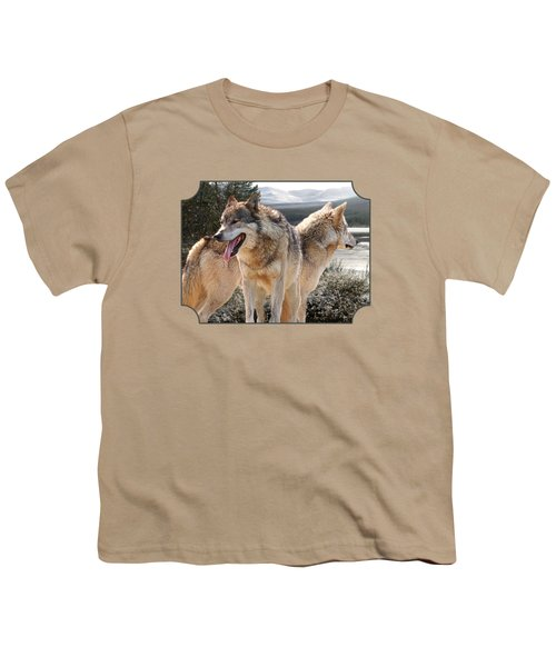 Keeping Watch - Pair Of Wolves Youth T-Shirt