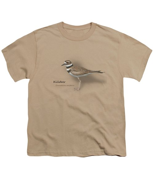 Killdeer - Charadrius Vociferus - Transparent Design Youth T-Shirt by Mitch Spence