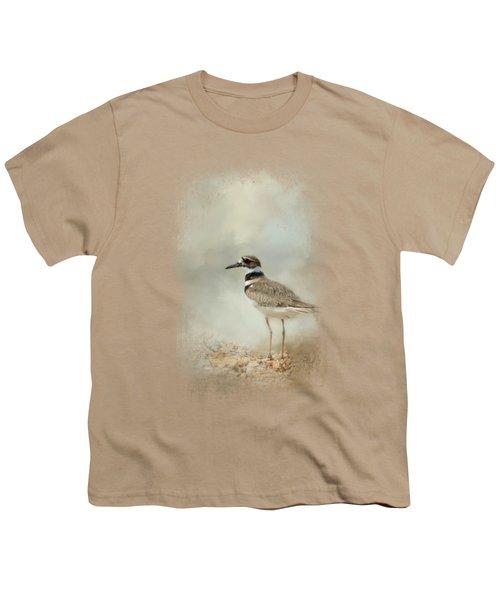 Killdeer On The Rocks Youth T-Shirt by Jai Johnson