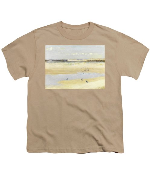 Lapwings By The Sea Youth T-Shirt by William James Laidlay