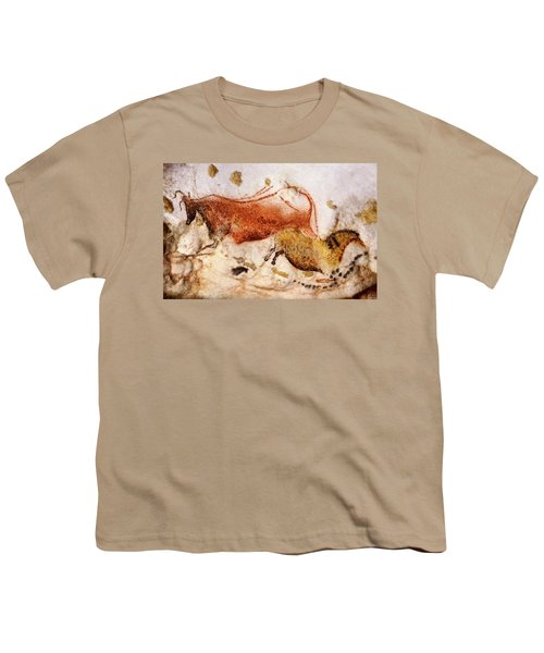 Lascaux Cow And Horse Youth T-Shirt