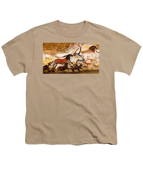 Lascaux Hall Of The Bulls - Horses And Aurochs Youth T-Shirt