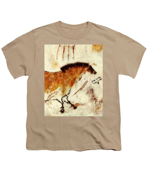 Lascaux Prehistoric Horse Detail Youth T-Shirt