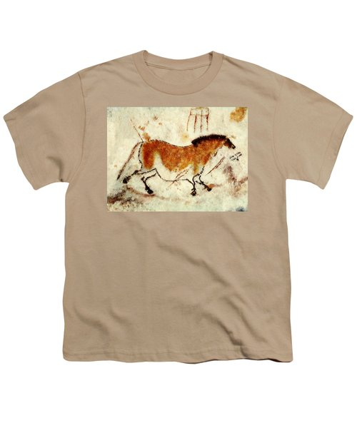 Lascaux Prehistoric Horse Youth T-Shirt