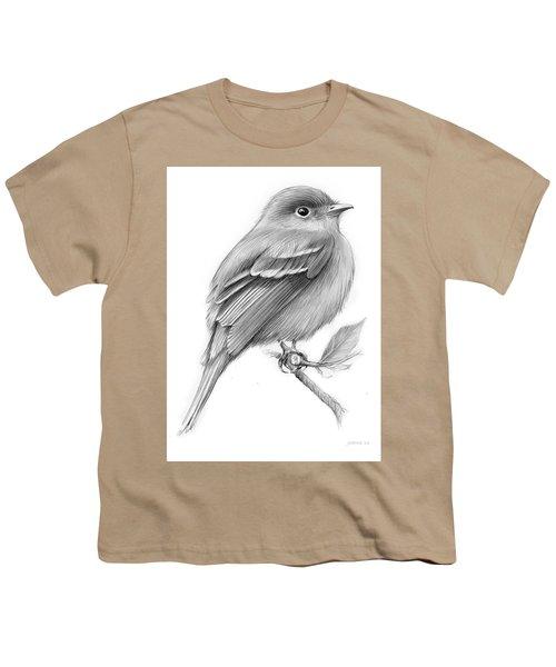 Least Flycatcher Youth T-Shirt by Greg Joens