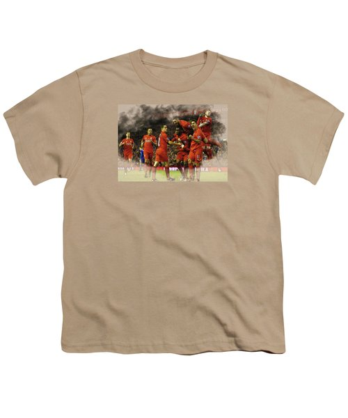 Liverpool V Leicester City Youth T-Shirt by Don Kuing