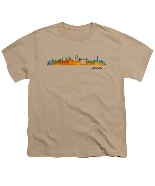 London City Skyline Hq V1 Youth T-Shirt by HQ Photo