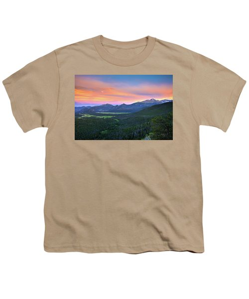 Youth T-Shirt featuring the photograph Longs Peak Sunset by David Chandler