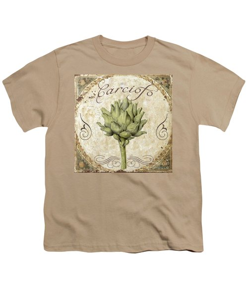 Mangia Carciofo Artichoke Youth T-Shirt by Mindy Sommers