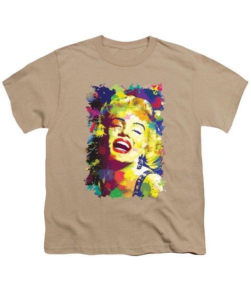 Marilyn Monroe Youth T-Shirt by Anthony Mwangi