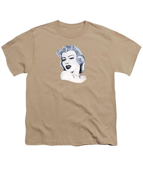 Marilyn Monroe Youth T-Shirt by Ivana Hlavca