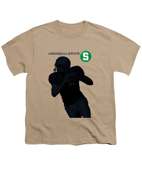 Michigan State Football Youth T-Shirt by David Dehner