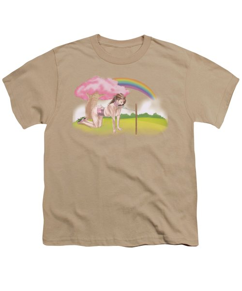 Youth T-Shirt featuring the mixed media My Little Pony by TortureLord Art