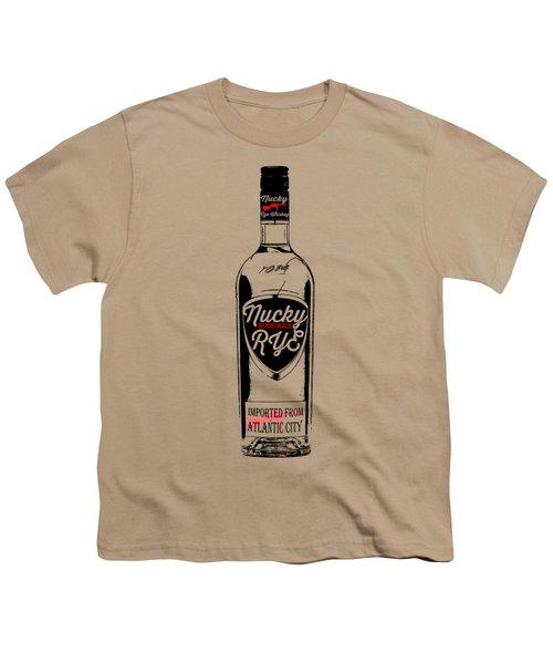Nucky Thompson Boardwalk Rye Whiskey Tee Youth T-Shirt by Edward Fielding