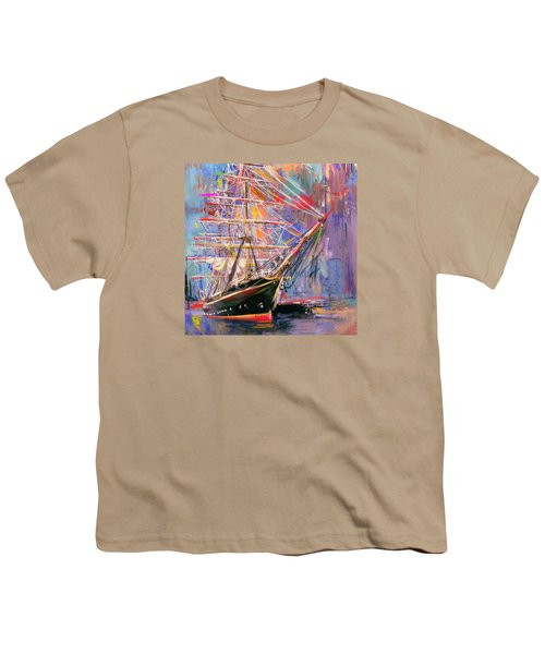 Old Ship 226 4 Youth T-Shirt by Mawra Tahreem