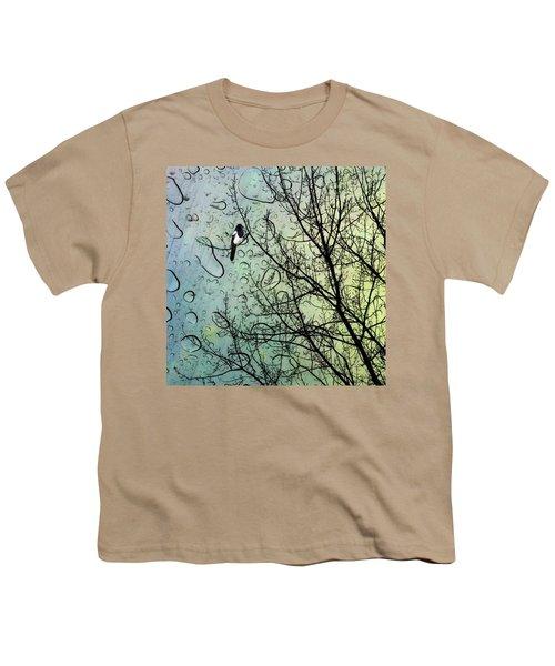 One For Sorrow #nurseryrhyme Youth T-Shirt by John Edwards